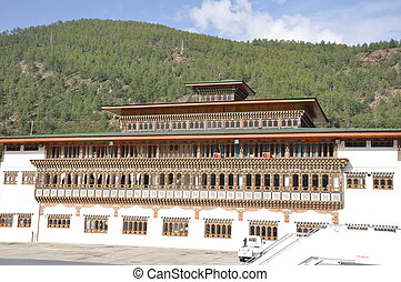 flughafen, in, paro, bhutan