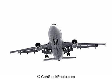 flugzeug, landung