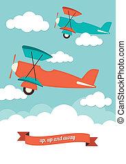 flugzeuge, wolkenhimmel