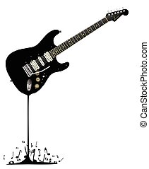 Fluid Black Guitar