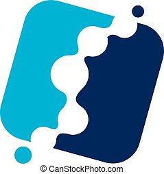 Fluid Chiropractic Logo Design Template Vector