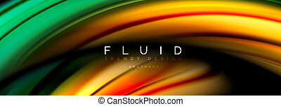 Fluid color motion concept, vector illustration