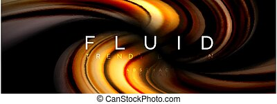 Fluid color motion concept, vector illustration
