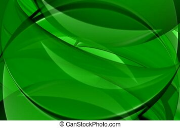 fluid, green, overlap