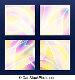 Fluid Iridescent Multicolored Vector Background. Pearlescent Texture. Design Element In Pastel Hues.