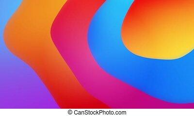 fluide, boucle, résumé, gradient, arrière-plan., coloré, ...