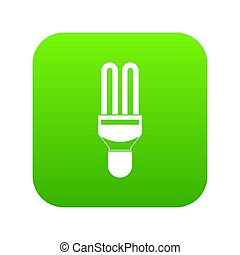 Fluorescence lamp icon digital green for any design isolated...