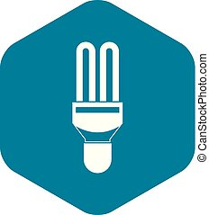 Fluorescence lamp icon, simple style - Fluorescence lamp...
