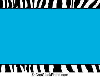 Fluorescent Blue Zebra Template - use as template, ...