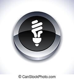 Fluorescent bulb 3d button.