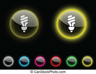 Fluorescent bulb button..