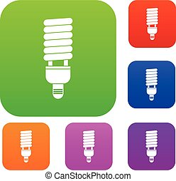 Fluorescent bulb set collection