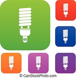 Fluorescent bulb set collection