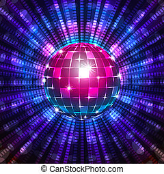 Fluorescent disco ball - An illustration of a fluorescent...