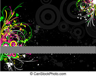 Fluorescent grunge - Abstract fluorescent grunge background