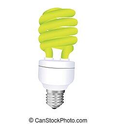 fluorescent light bulb icon design