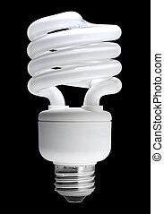 Fluorescent light bulb, isolated