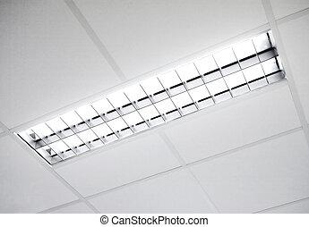 fluorescent light fixture - A fluorescent light set in the...