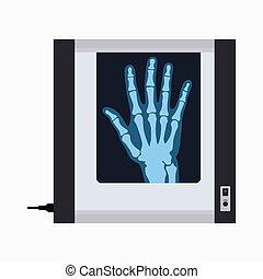 Fluorescent negatoscope, X-Ray film viewer