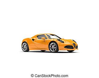 Fluorescent orange modern sports car
