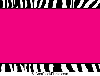 Fluorescent Pink Zebra Template - use as template, ...