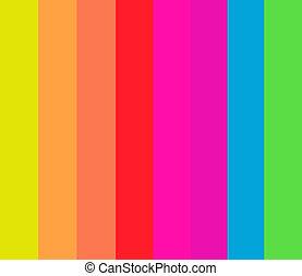 8 Fluorescent Stripes in a Pattern