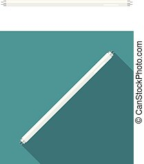 Fluorescent tube lamp. Vector illustration