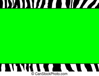 fluorescente, verde, zebra, plantilla