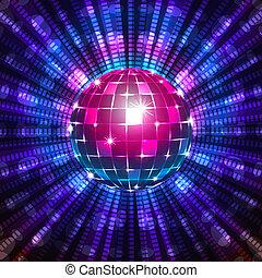 fluoreszierend, kugel, disko