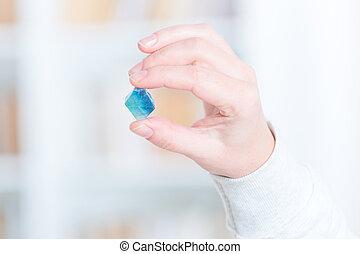 Fluorite semi preciouse gemstone