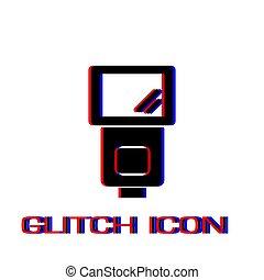 Flush bulb icon flat