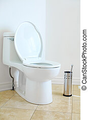 Flush toilet - Modern flush toilet. Bathroom