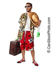 Flushed tourist