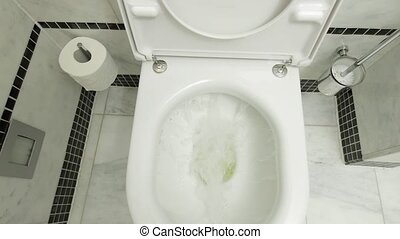 Flushing down the toilet
