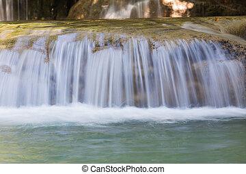 flusso, cascate, in, parco nazionale