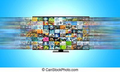 flusso continuo, tv, intrattenimento, banda larga, internet, far male