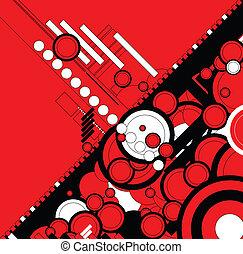 flusso, declino, rosso