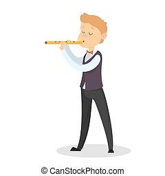 flute., ילדים משחקים
