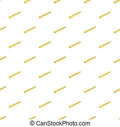 Flute pattern, cartoon style