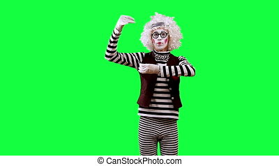 Flute - Mime playing on an imaginary flute. This clip is...