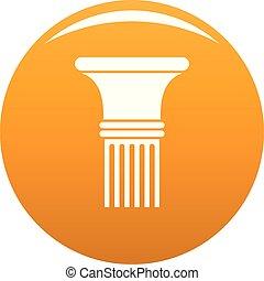 Fluted column icon vector orange
