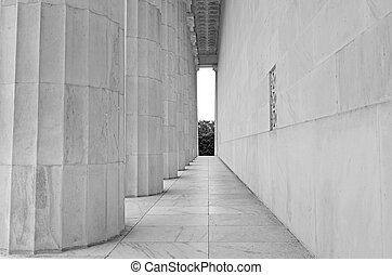 fluted, witte , closeup, marmer, kolommen