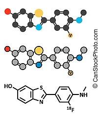 Flutemetamol (18F) PET tracer molecule. Used to diagnose...