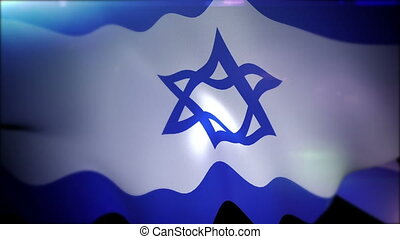 """Fluttering Banner of Israel in Slow Motion"" - ""Arty 3d..."