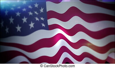 """""""Fluttering Banner of the USA in Slow Motion"""""""