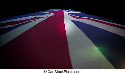 """Fluttering British Flag Rising Up Actively"" - ""Festive 3d..."
