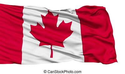 Fluttering Flag Of Canada, also known as The Maple Leaf,...