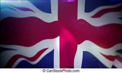 """""""fluttering, powolny, chorągiew, brytyjski, motion"""""""