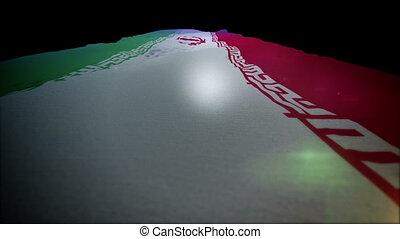"""""""Fluttering Standard of Iran Going Up """" - """"Striking 3d..."""