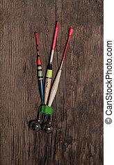 flutuações pescando, sortido, colors.